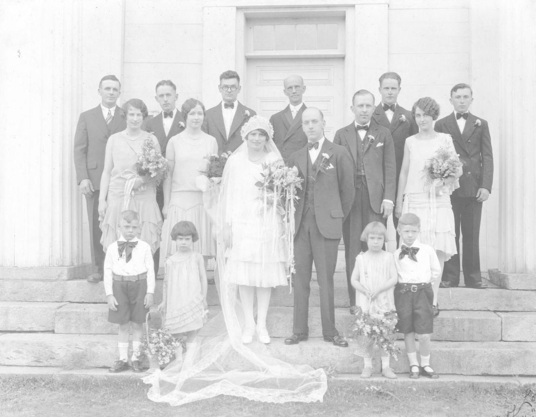 Lewis & Beatrice Thayer Wedding; June 9, 1929.